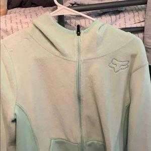 FOX Zip up fuzzy hoodie